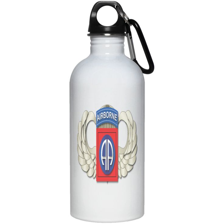 82ND AIRBORNE DIVISION WINGS 23663 20 oz. Stainless Steel Water Bottle