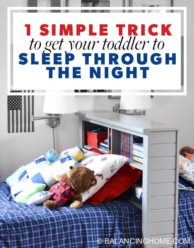 One simple trick got our toddler to sleep through the night.If your toddler is waking in the middle of the night, you need this simple sleeping trick.