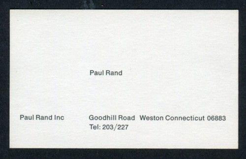 Paul Rand's Business Card