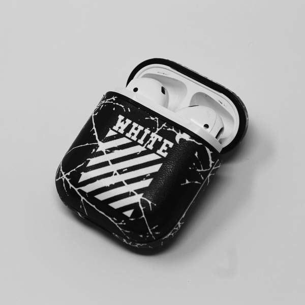 Off White Airpods Protective Shockproof Case Earbuds Case