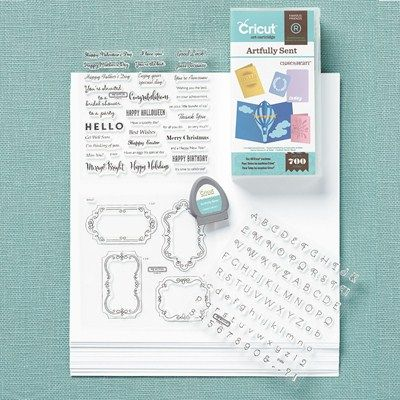"It is HERE!  The brand new Cricut cartridge collection from Close to my Heart ""Artfully Sent"". For all those card makers, this is what you will want to create an assortment of cards!! Beautiful font included in the cartridge of 700 images!  Visit here to see images:http://cdn.closetomyheart.com/global/oba/docs/products/cricut-artfully-sent-shape-index.pdf"