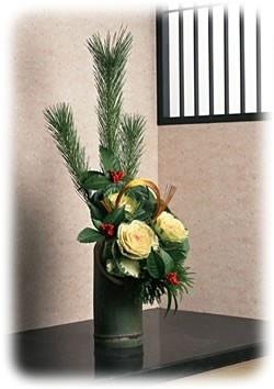 お正月の花かざり