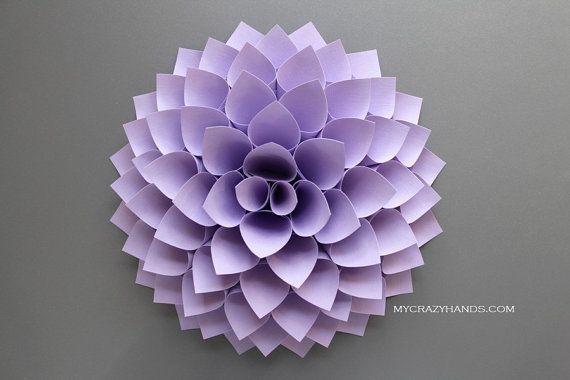 texture paper dahlia  10 1/8'' dahlia flower wall