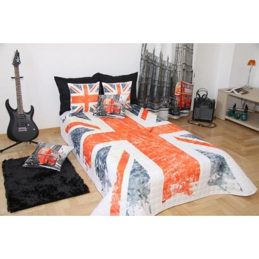 Prehoz na posteľ vlajka 3D Veľká Británia