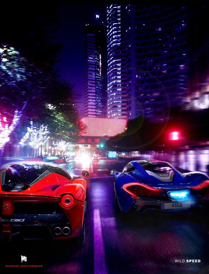 LaFerrari vs McLaren P1 Street Race