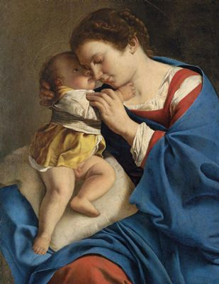Orazio Gentileschi  Madonna and child