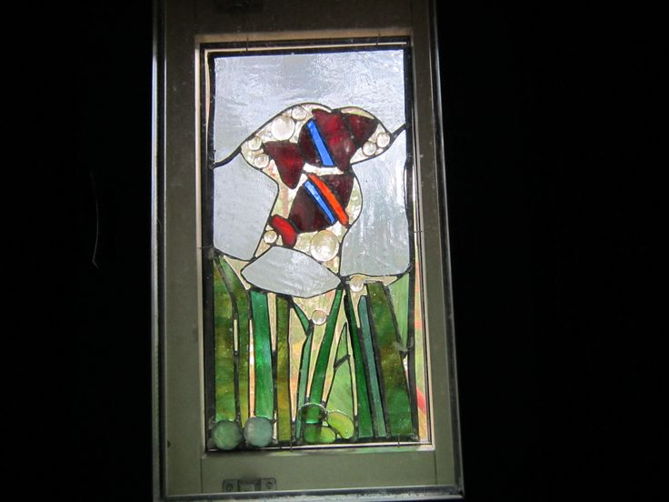 Glassdecoration in bathrooms window