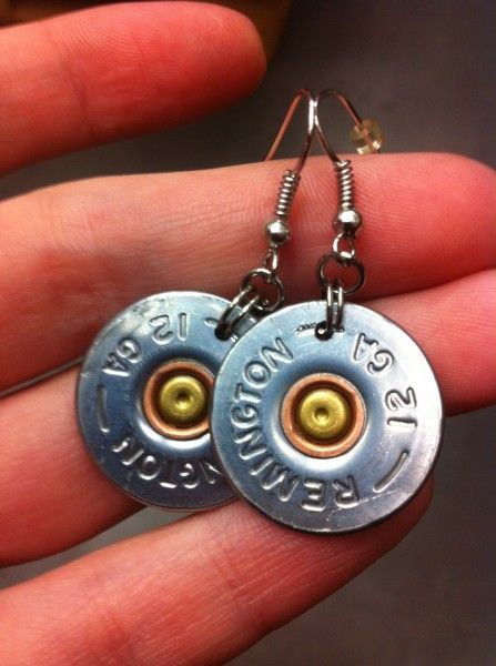 12 gauge shotgun shell earrings (www.lifeascaroline.com)