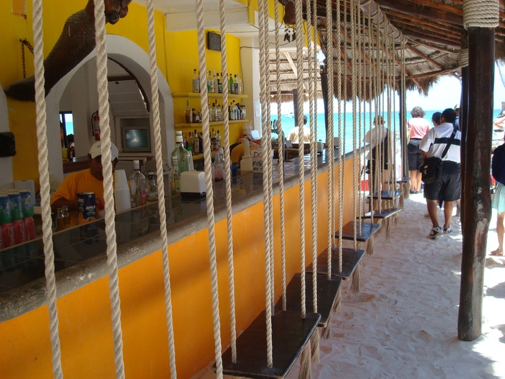 The Swing Bar At Xpu Ha In Cancun, Mexico  Beach Bar  Sun Beds  Pinterest  Cancun Mexico -3558