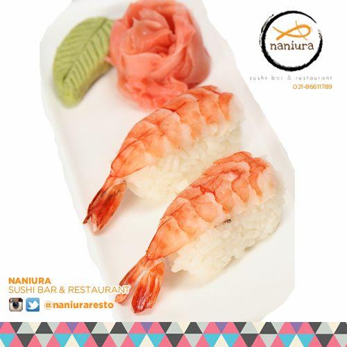 #EbiNigiri Om.. Nom.. Nom... Lets order: Naniura Sushibar Restaurant Jakarta Timur 021-86611789 || Tag ur reviews #NaniuraSushi #Sushi #FoodPorn #SushiLover #SushiResto #Ebi #Nigiri