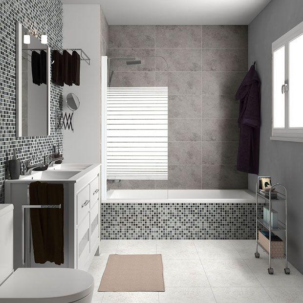 Mamparas para bañeras - Leroy Merlin | Baños con mamparas