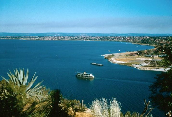 South Perth from Kings Park, 1957.