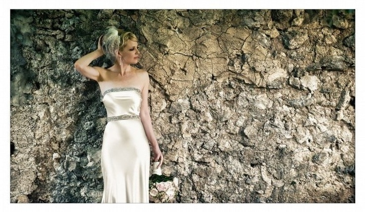 Johanna Johnson - Vintage Bias Cut Gown - Ivory - Size 8 wedding dress for sale in Manly, New South Wales | Still White Australia