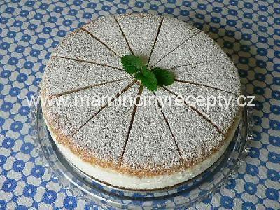 Tvarohovo-šlehačkový dort