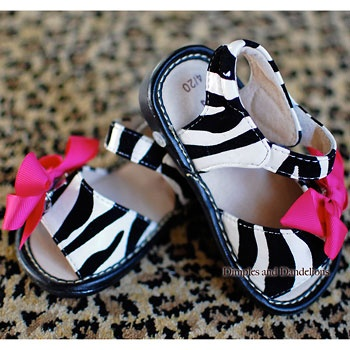 Zebra Print Squeakers Sandals