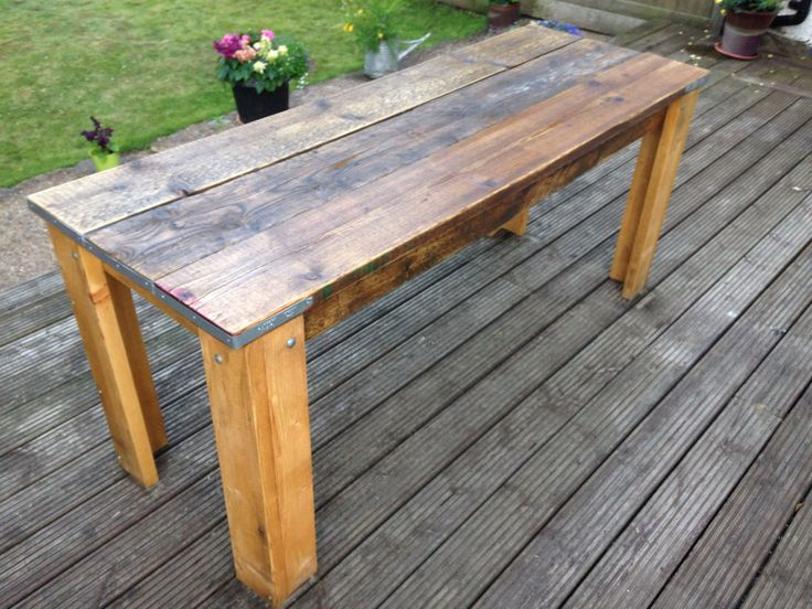 Reclaimed Scaffold Board Table Building Recycled Homes
