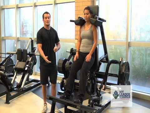 ▶ How to do use a V-Squat Machine - Hammer Strength - YouTube