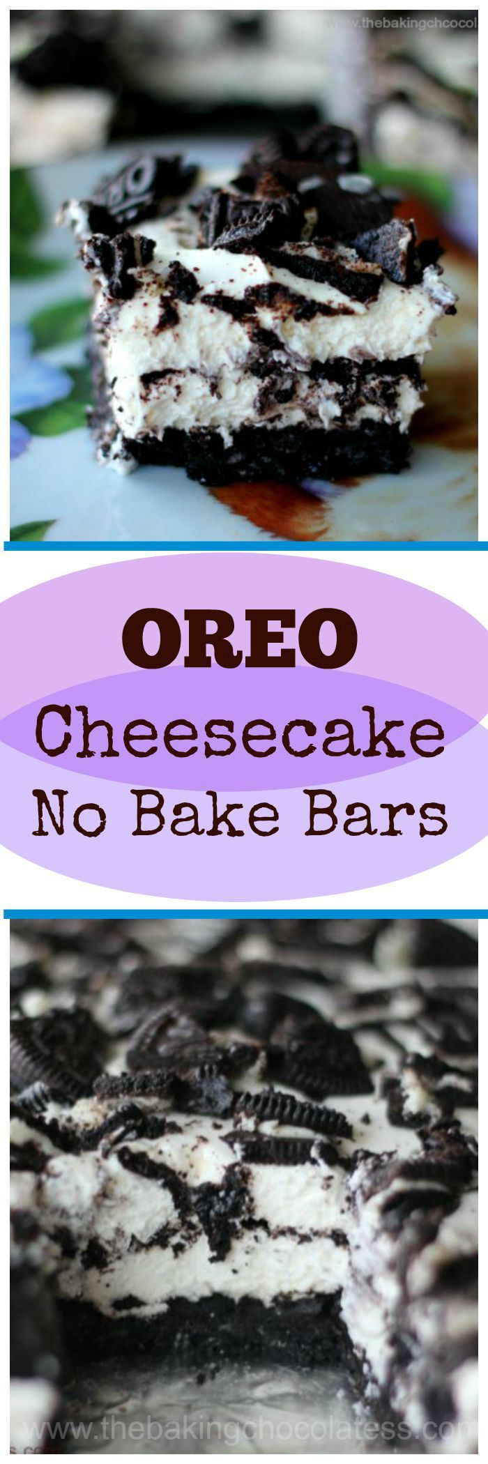Oreo Cheesecake No Bake Bars