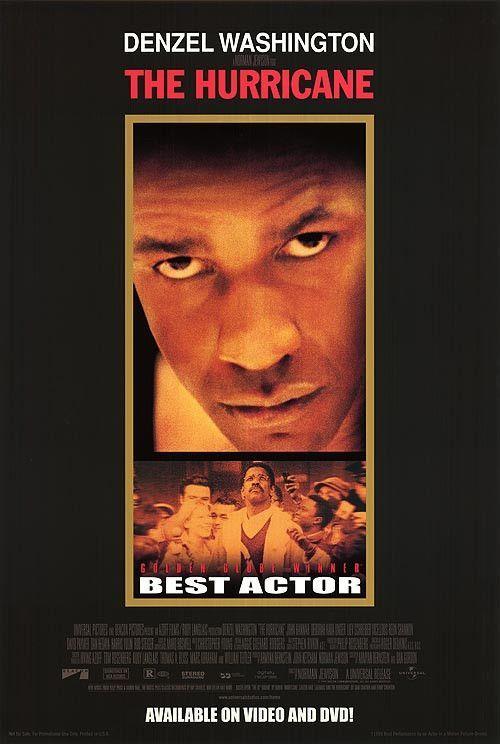 The Hurricane Movie Poster 27x40 Used Denzel Washington