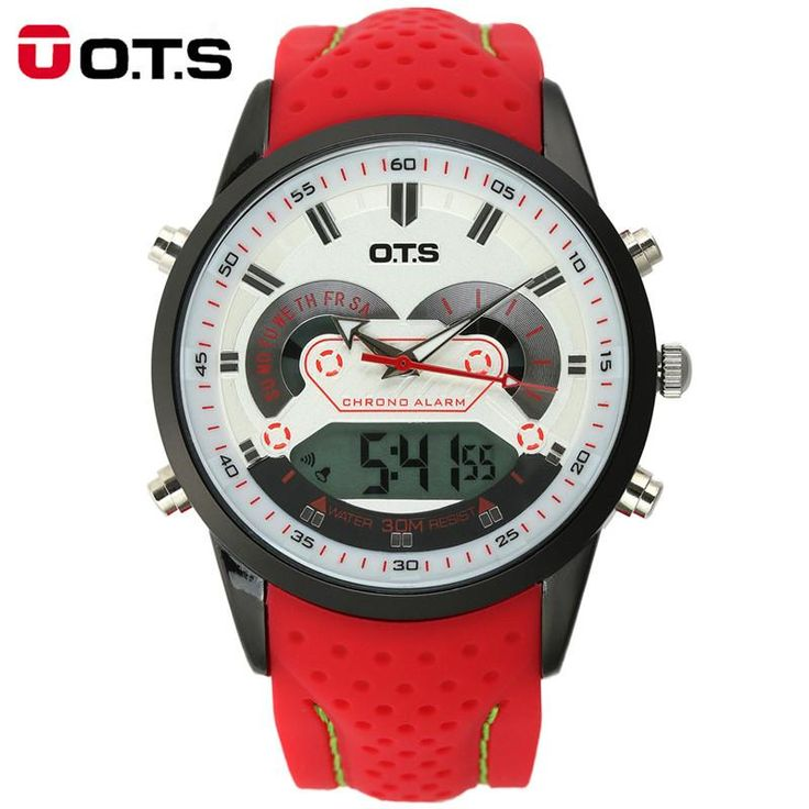 OTS Men's Quartz Digital Sports Watch