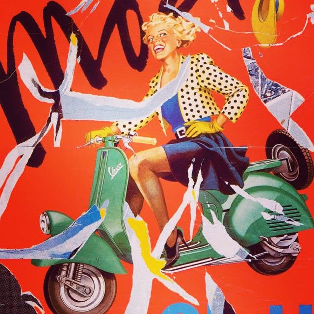 Mimmo Rotella #mimmorotella #rotella #art #arte #beauty #vespa #onlygoodvibez #instart #instartist #milano #milan #contemporaryart #colors #beautiful #instagood #photoart #capture #decollage