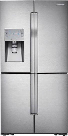 Samsung - 31.7 Cu. Ft. 4-Door Flex French Door Refrigerator with Convertible Zone - Stainless Steel - Front Zoom