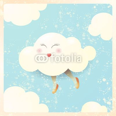 #Cartoon #cloud #vector #stockimage