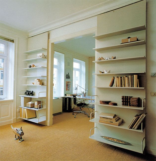 sliding bookshelves