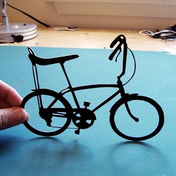Banana Seat Bike HandCut Original Paper by papercutsbyjoe on Etsy, $45.00