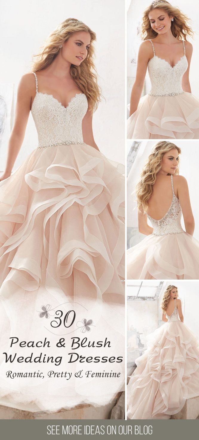 30 Peach & Blush Wedding Dresses You Must See ❤ We love the peach and blush colours of these wedding gowns. Romantic, pretty, fabulous and feminine. See more: http://www.weddingforward.com/peach-blush-wedding-dresses/ #wedding #dresses #peach #blush