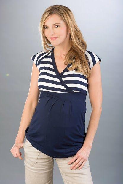 Těhotenská a kojicí halenka KATHY BLUE