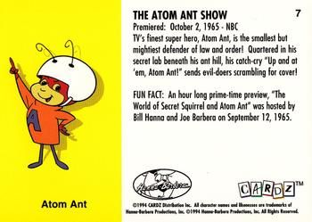 1994 Cardz Hanna Barbara Classics #7 The Atom Ant Show Back