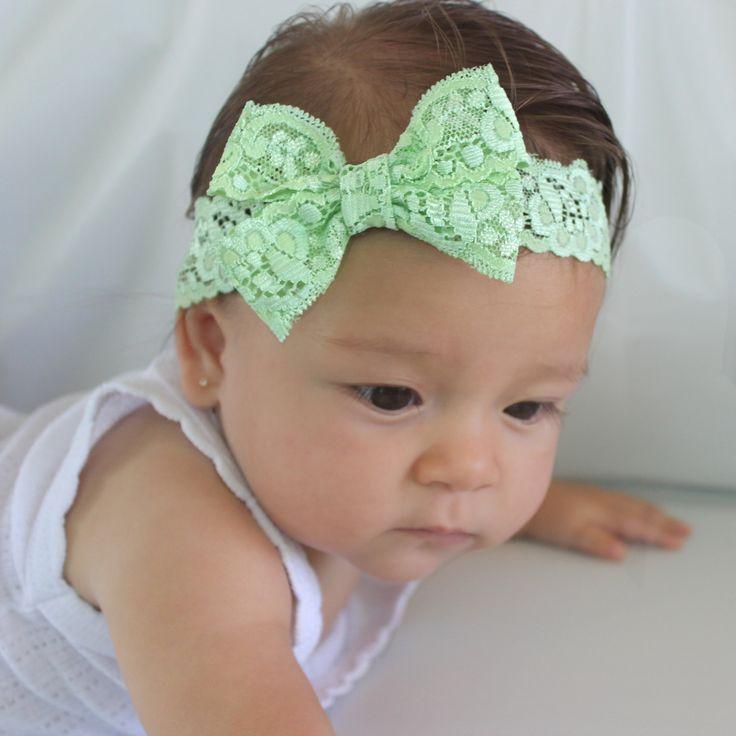 Pastel Bow Headband, Spring Headband, Sweet Headband, Baby Girl Headband, Baby Shower Gifts, New Girl Gift, Baby Headbands, Newborn Baby