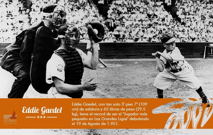 ¿Sabes cuál es el pelotero más pequeño en la historia del baseball?