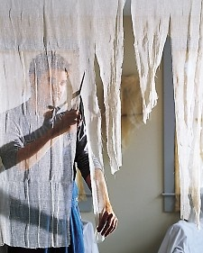 Cheesecloth how-to decor for Halloween
