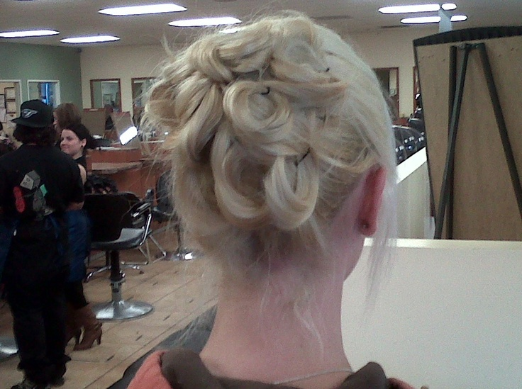 one of the updo's I did at school.