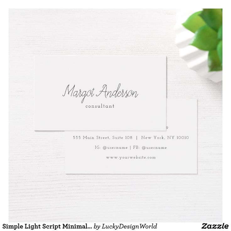 54 best zazzle collection business cards images on pinterest simple light script minimalist chic business card reheart Choice Image