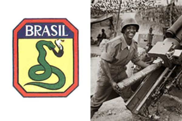 Símbolo oficial da FEB e Soldado brasileiro que apareceu em edição do Jornal Cruzeiro do Sul