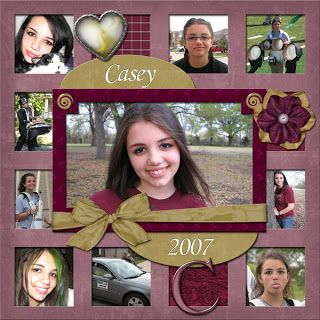 lots of pictures on scrapbook page