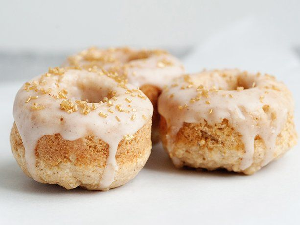 Baked Apple Spice Doughnuts with Cinnamon Glaze