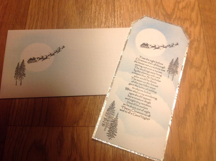 Christmas card using inkylicious A Winters Tale.