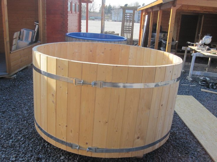 Badebottich 2 M Badefass Wasserbottich Badezuber Holz