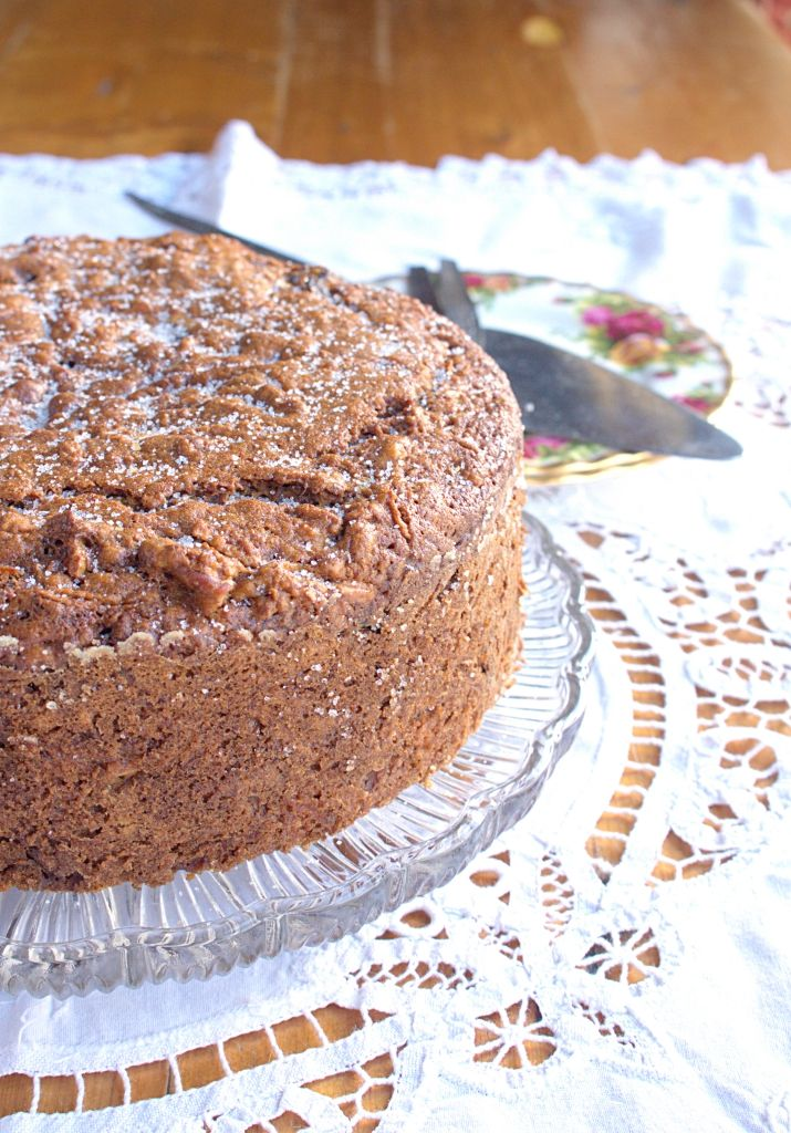 Apple Cider Pecan Cake - a perfectly spiced way to show off autumn or fall produce