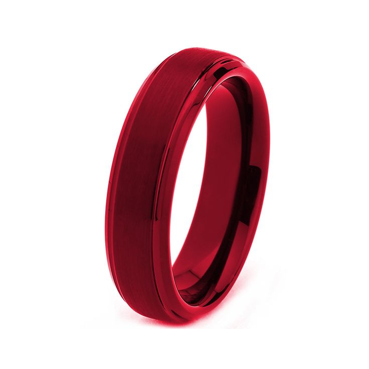 Black Tungsten Ring Red Men Tungsten Rings Red by GiftFlavors, $197.77