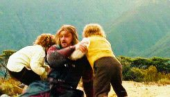 I loved Boromir's interactions with Merry and Pippin.. It makes me happy and sad at the same time.