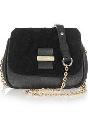 See by Chloé Shearling and leather shoulder bag