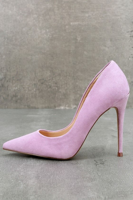 a811b9b5abe Steal the show with the Steve Madden Daisie Lavender Suede Leather Pumps!  Sleek