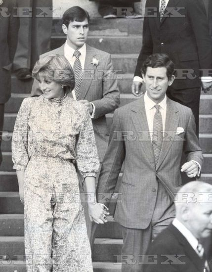 Prince Charles and Lady Diana Spencer, just before their wedding