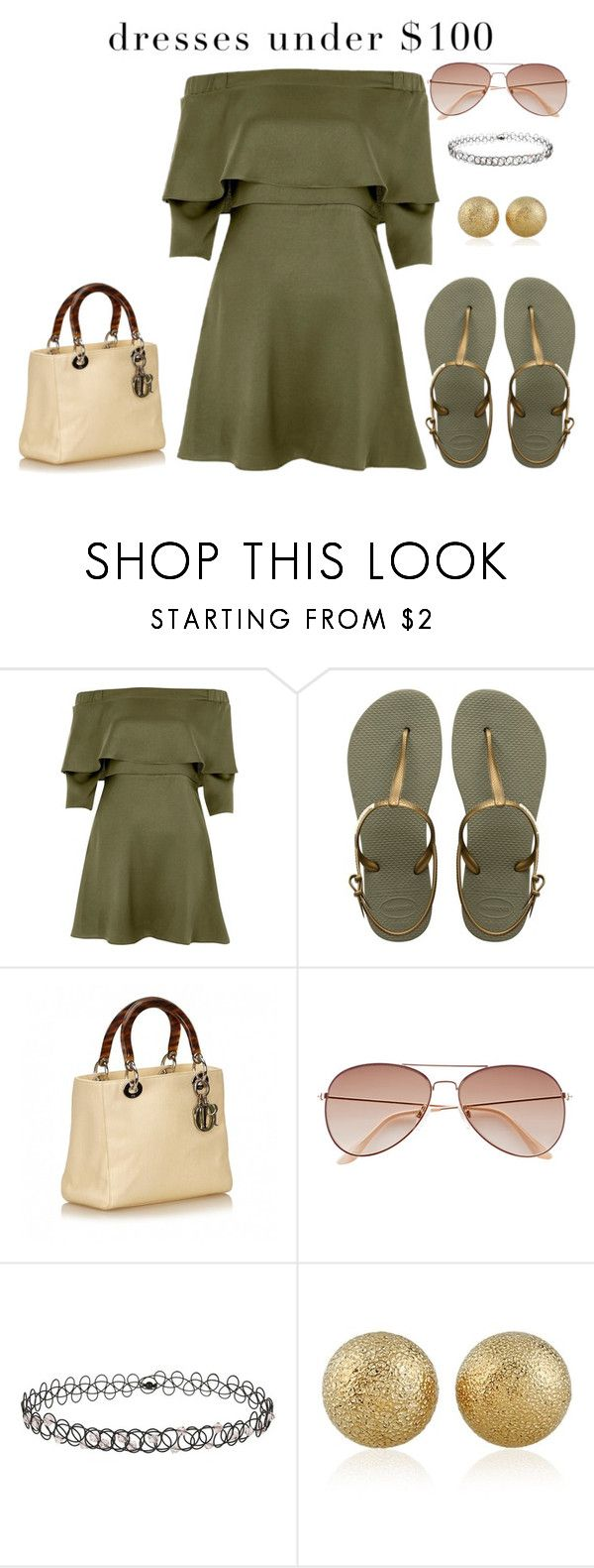 """""""Untitled #1489"""" by moestesoh ❤ liked on Polyvore featuring River Island, Havaianas, H&M and Miss Selfridge"""