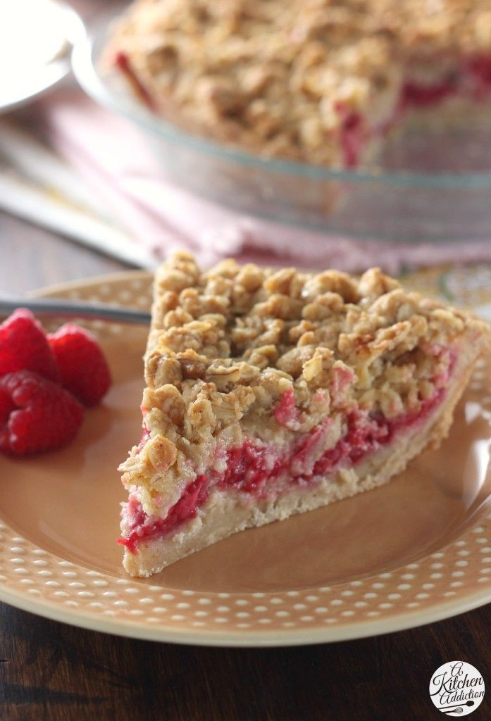Raspberry Custard Pie l www.a-kitchen-addiction.com